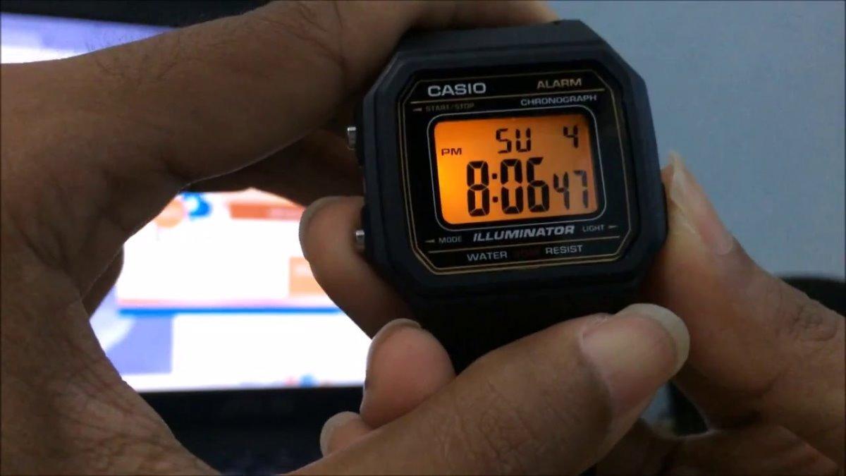 e95ff5f6f39 Relogio Casio W-217h-1 Alarm Crono Data Luz Wr50m Retro Vint - R ...