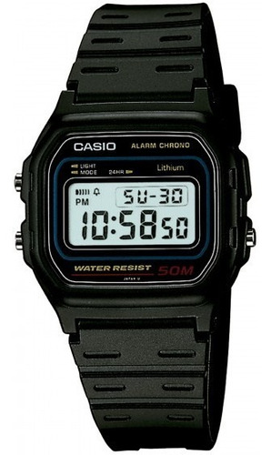 relógio casio w-59-1vq digital cronografo - refinado