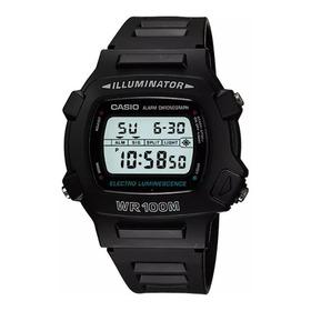 Relogio Casio W 740-1vs Digital Alarm Timer Crono Wr100 W740