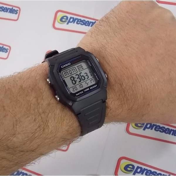 81162710443 Relógio Casio W-800 Wr100m Crono Alarme Bateria 10anos - R  156