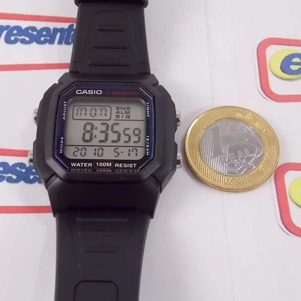 f4241b21e0f Relógio Casio W-800 Wr100m Crono Alarme Bateria 10anos - R  156