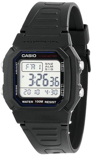 relógio casio w 800h-1a  serie prata prova d`água 100 mts