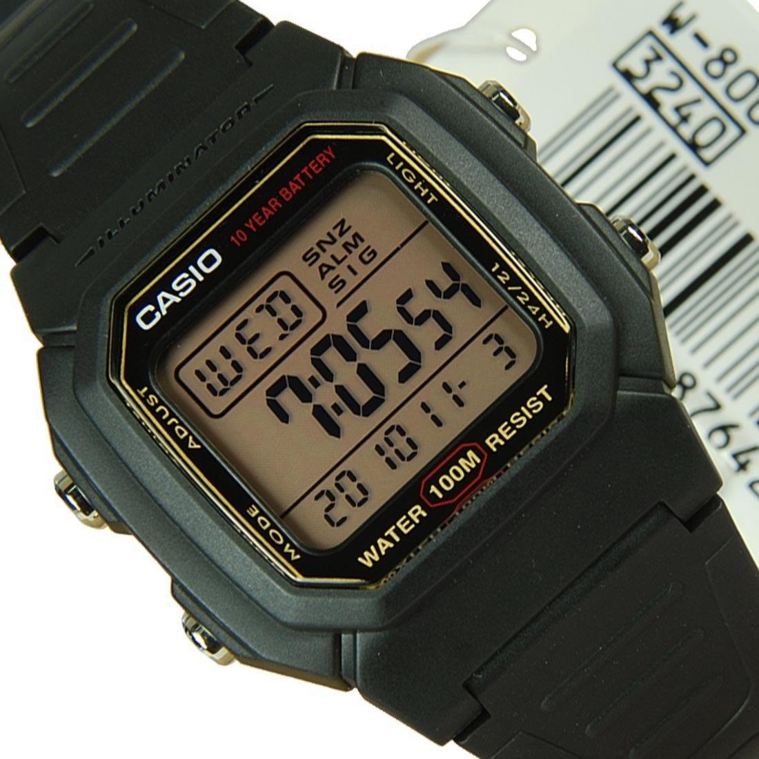 c9b349e25de Relogio Casio W-800hg Resist. Agua 100m Série Ouro Original - R  110 ...