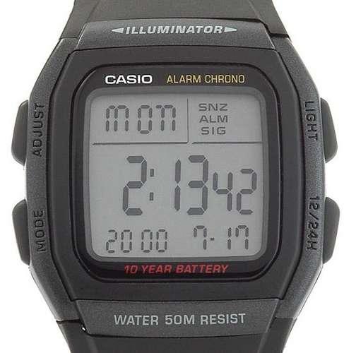 7dcd51419af Relógio Casio W-96 H-1b Wr-50m Hora Dual Alarme W96 12 24h P - R ...