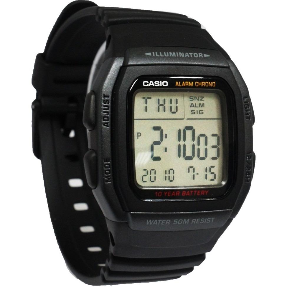 b33a14886d3 relógio casio w-96 h-1b wr-50m hora dual alarme w96 12. Carregando zoom.