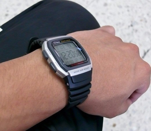bf8e2609436 Relógio Casio W-96h-1av Prata Bateria 10anos Original W96 - R  120 ...