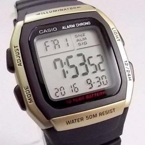 6d60c02b71b Relógio Casio W-96h-9avdf Dourado Bateria 10 Anos Original - R  125 ...