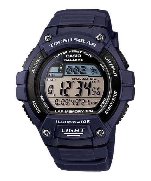 d65b08042e3 Relógio Casio W-s220-2av Solar Hora Mundial Cor Azul Luz Led - R ...