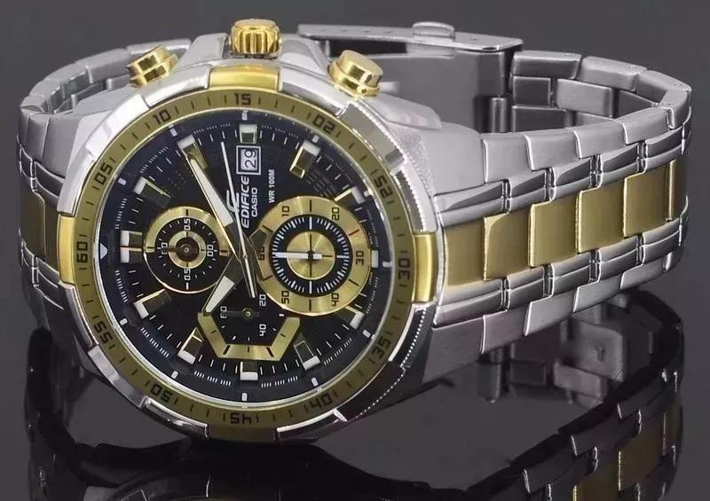 35345aa706d Relógio Cassio Edifice 539 Prata E Dourado - R  349