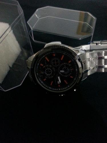 relógio cassio todo de aço cronógrafo original um ótimo reló