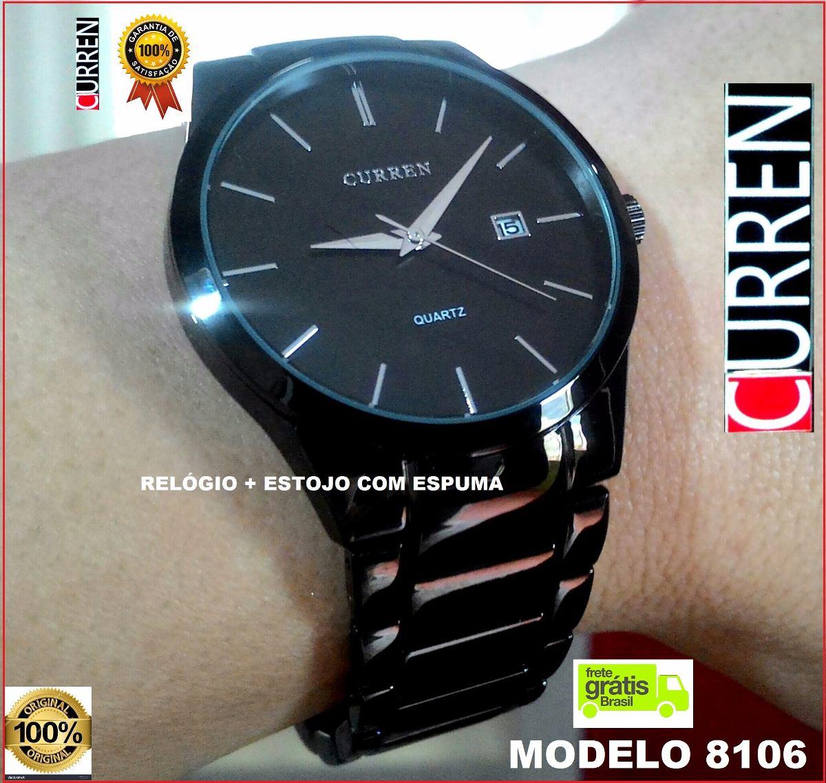 97a8c30c8c4 Relógio Casual Curren Modelo 8106 Masculino Original - Black - R ...