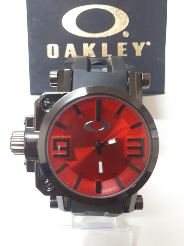 7c7568b21b8 relógio casual esporte oakley titanium gear box + caixa. Carregando zoom.