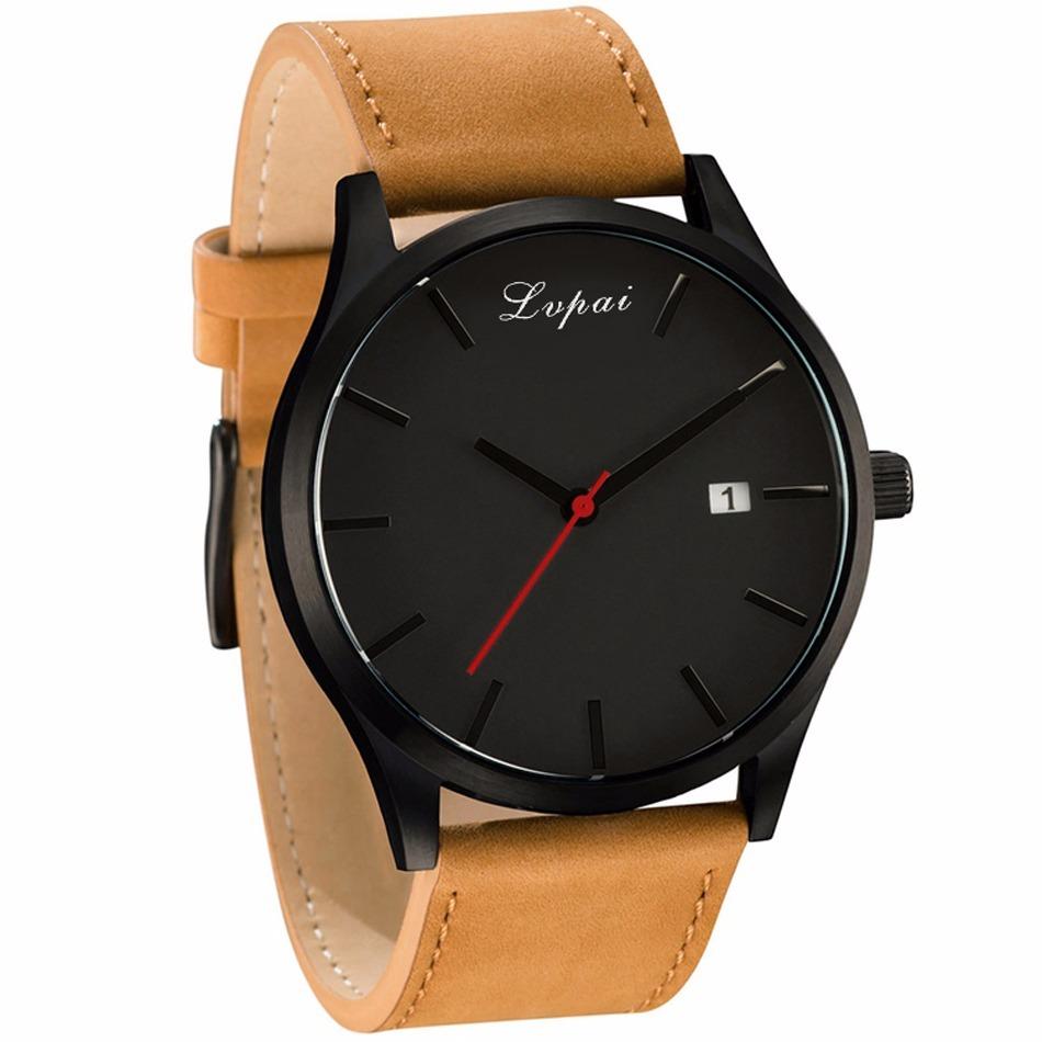 c6fb7b6170e relógio casual masculino lvpai pulseira couro. Carregando zoom.