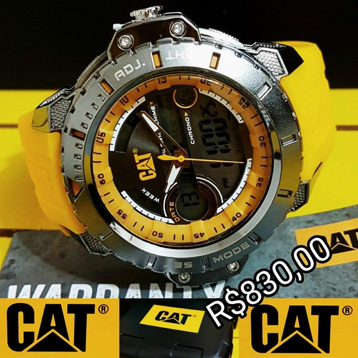 5269653341e relógio caterpillar digital lançamento original estojo. Carregando zoom.