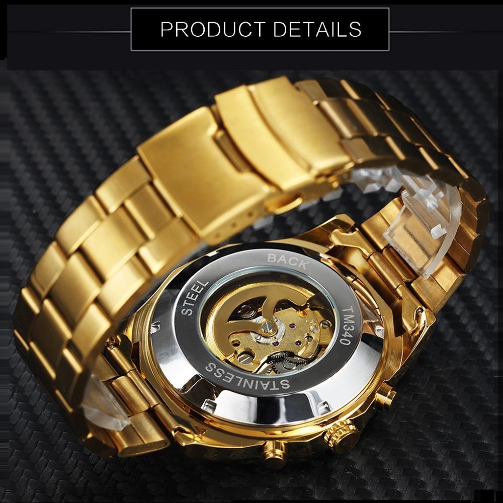 5d9c59b743a relógio caveira winner skull automático mecânico original. Carregando zoom.