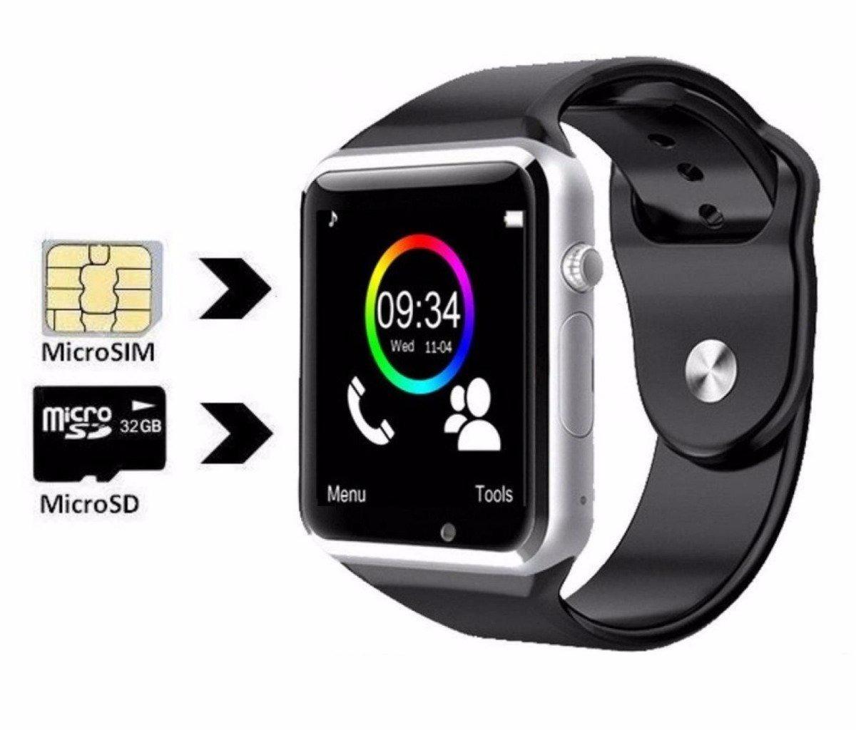 6a225688d2b relogio celular a1 smartwatch 3g chip android samsung app. Carregando zoom.