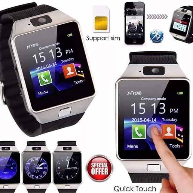 c057fe020bb Relógio Celular Bluet Dz09 Camera Android - R  149