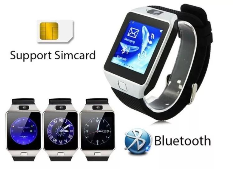 523c5e13687 Relógio Celular Chip Smartwatch Gsm Touch Android Ios Dz09 - R  43 ...