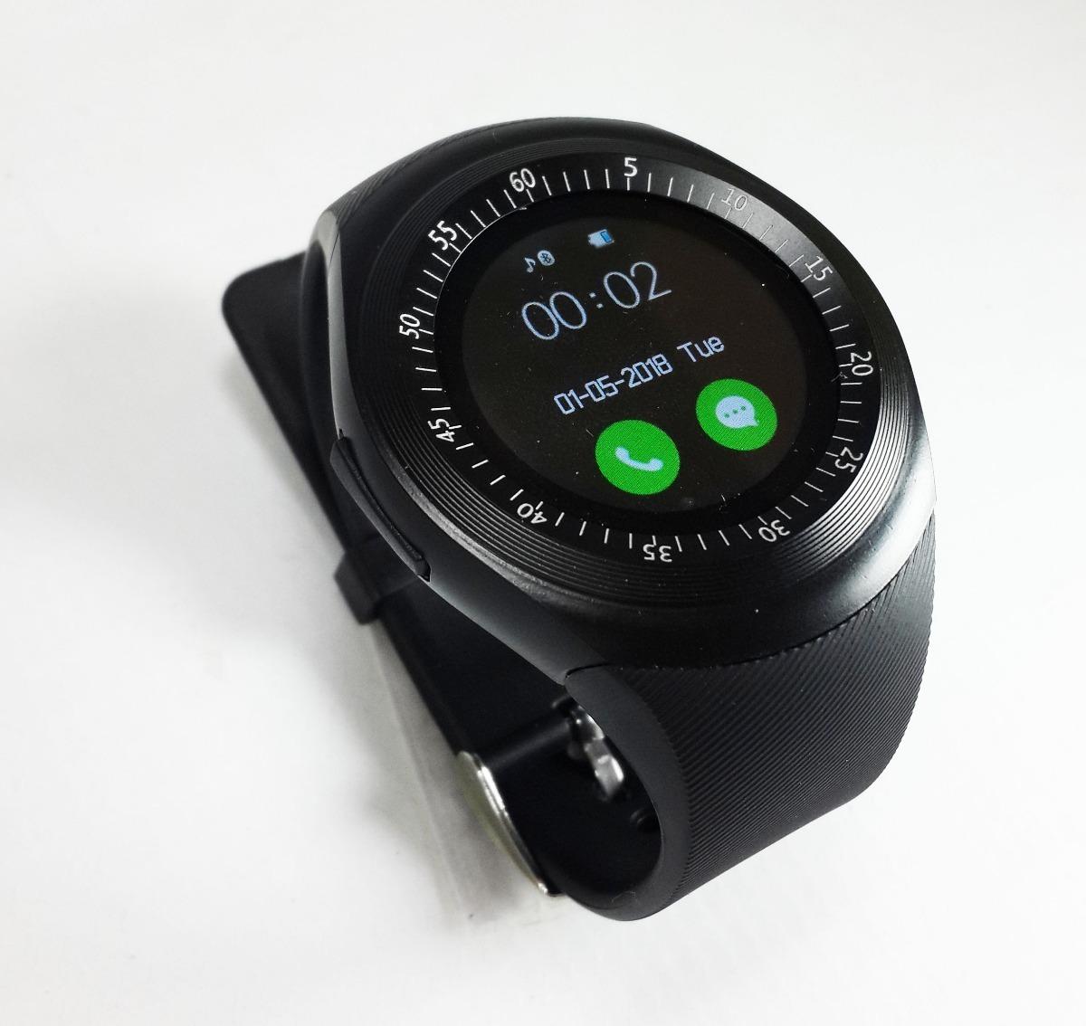 73d207e04d9 relógio celular e-watch redondo inteligente bluetooth chip. Carregando zoom.