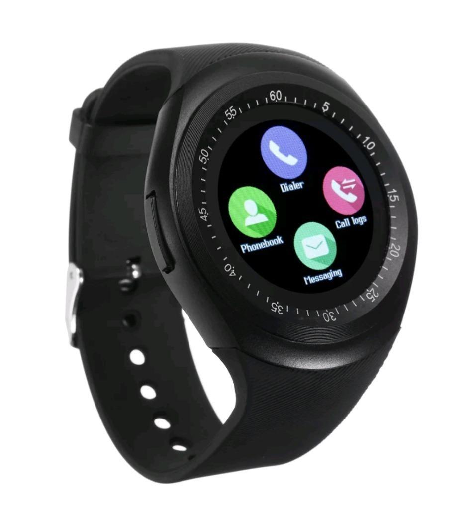 dac0a3fe602 Relógio Celular Redondo E-watch Inteligente Bluetooth Brinde - R ...