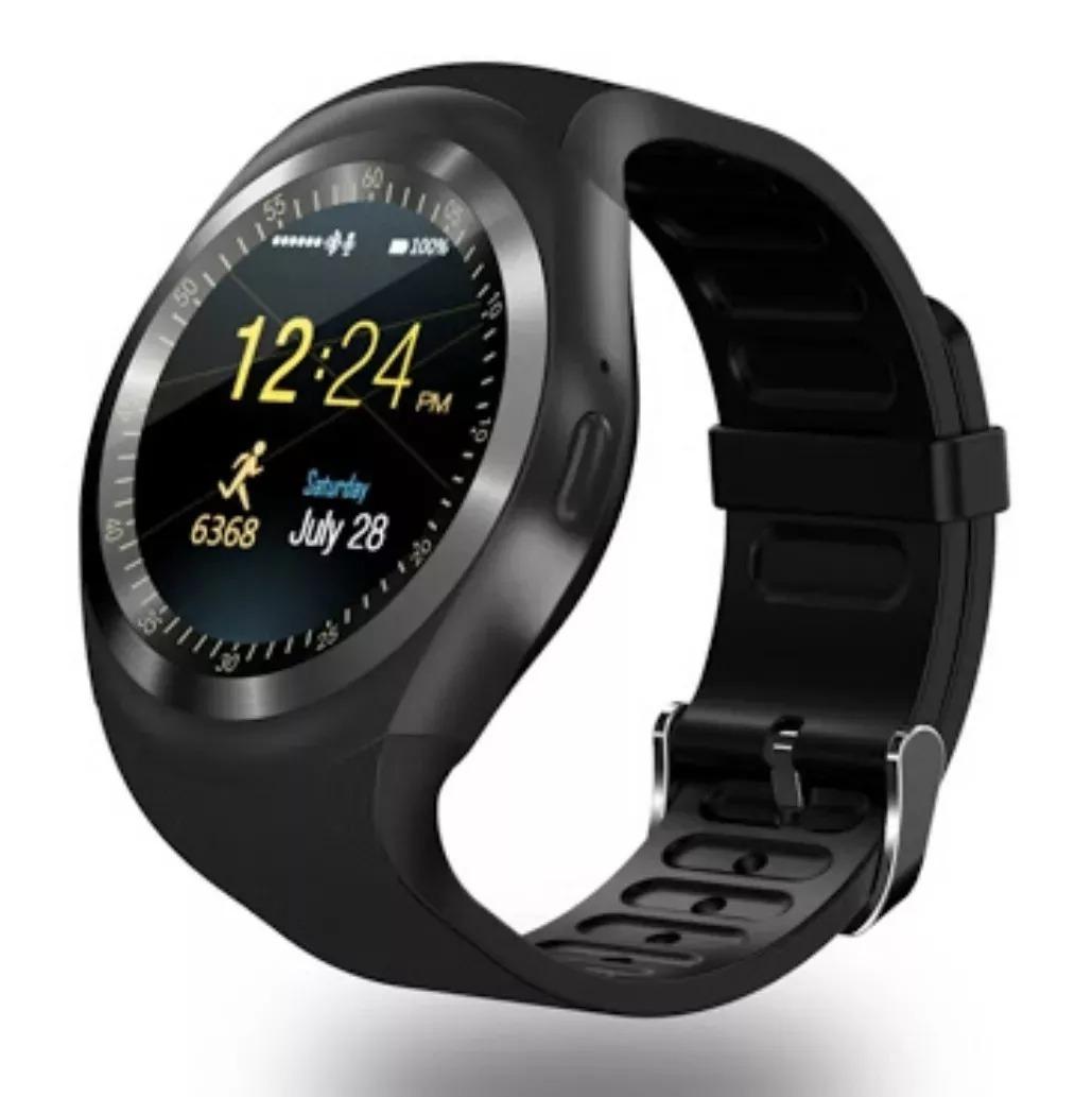 0865ccf8a88 relógio celular redondo e-watch inteligente bluetooth chip. Carregando zoom.