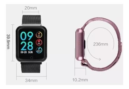 relógio celular smart watch batimentos cardíacos 2 pulseiras
