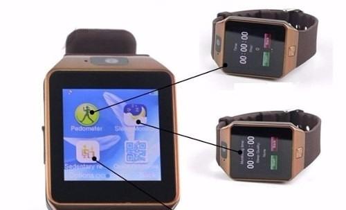 relógio celular smart watch zd09 / chip câmera som memóriam