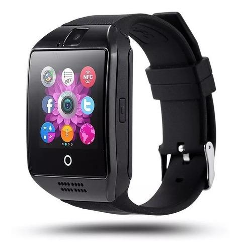 relógio celular smartwatch bluetooth q18 galaxy j4 j5 j6 j7