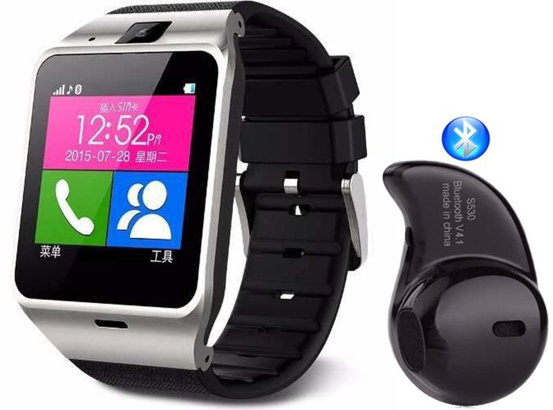 e35879873fa relógio celular smartwatch dz09 + fone ouvido bluetooth s530. Carregando  zoom.