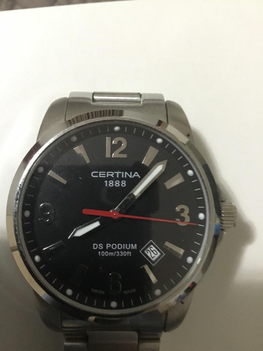 2a96d5bf588 relógio certina ds podium masculino fundo preto quartz. Carregando zoom.