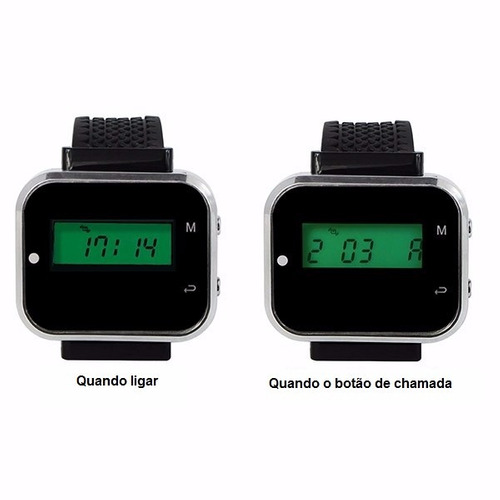 relógio chama garçon função vibra ou toca 433.92 mhz menor $