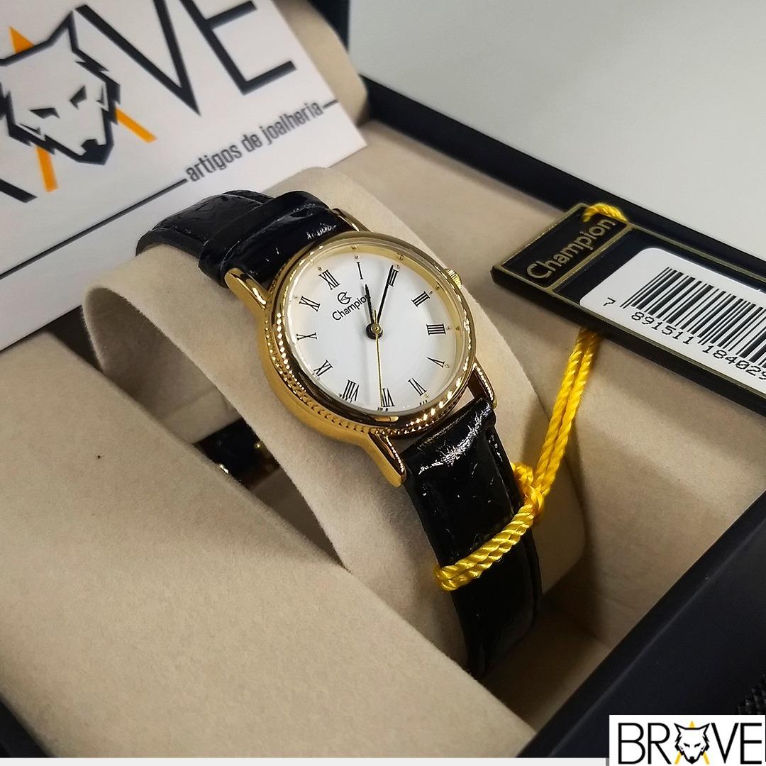 62a1145a1cb relógio champion couro dourado feminino original garantia. Carregando zoom.