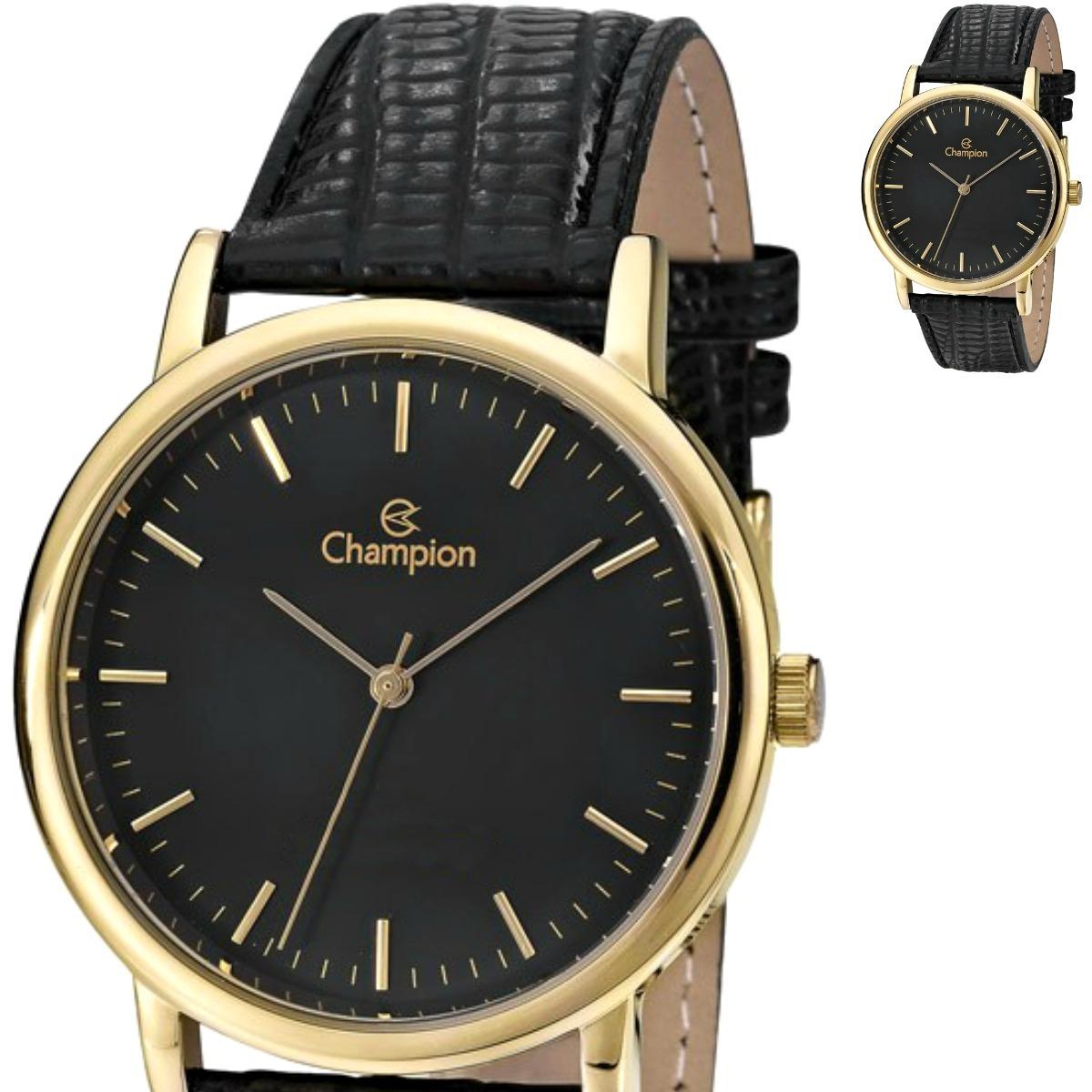 ce7bff0b8fd relógio champion dourado couro unissex prova d água cn20042p. Carregando  zoom.