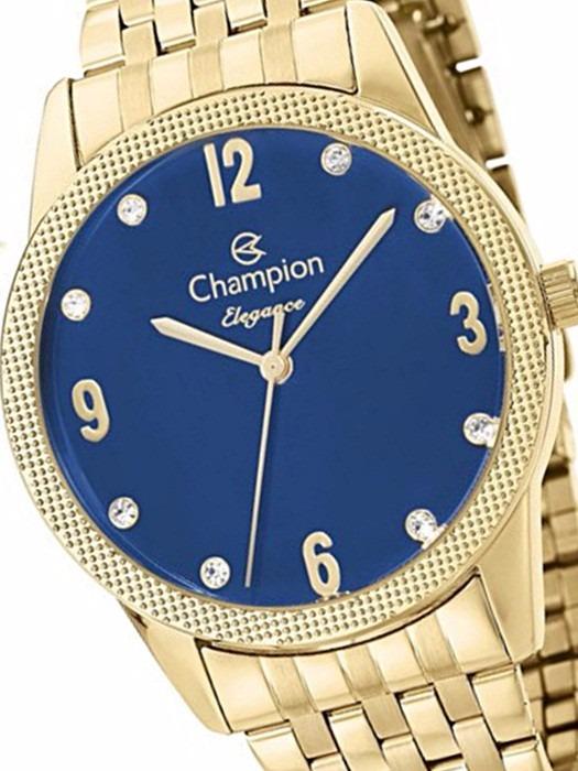 d21422a0626 Relógio Champion Dourado Kit Colar 50 Metros Cn26082k -- - R  239