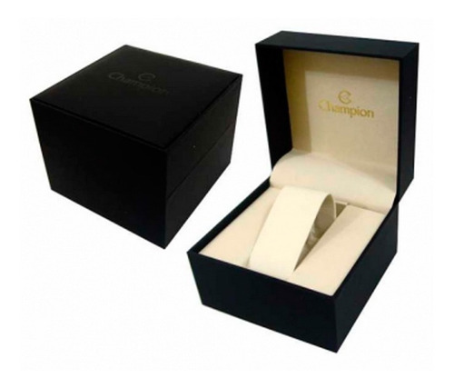 relógio champion dourado masculino pulseira em couro