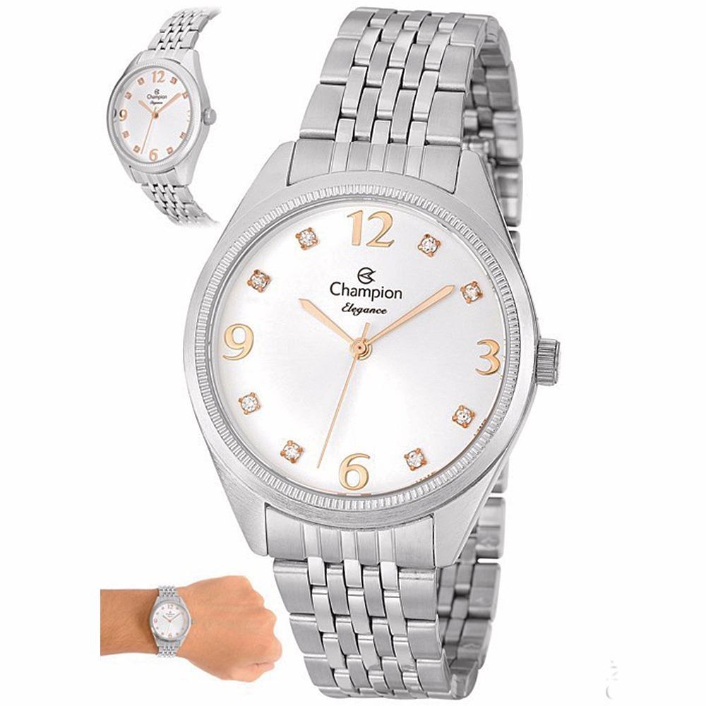 6cb3f6cfcbe relógio champion elegance feminino prata cn26251q c  nf 12x. Carregando  zoom.