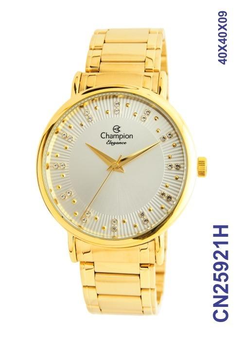 0d1a25967fe Relogio Champion Fem. Dourado Cn25921h Original Lançamento - R  170 ...