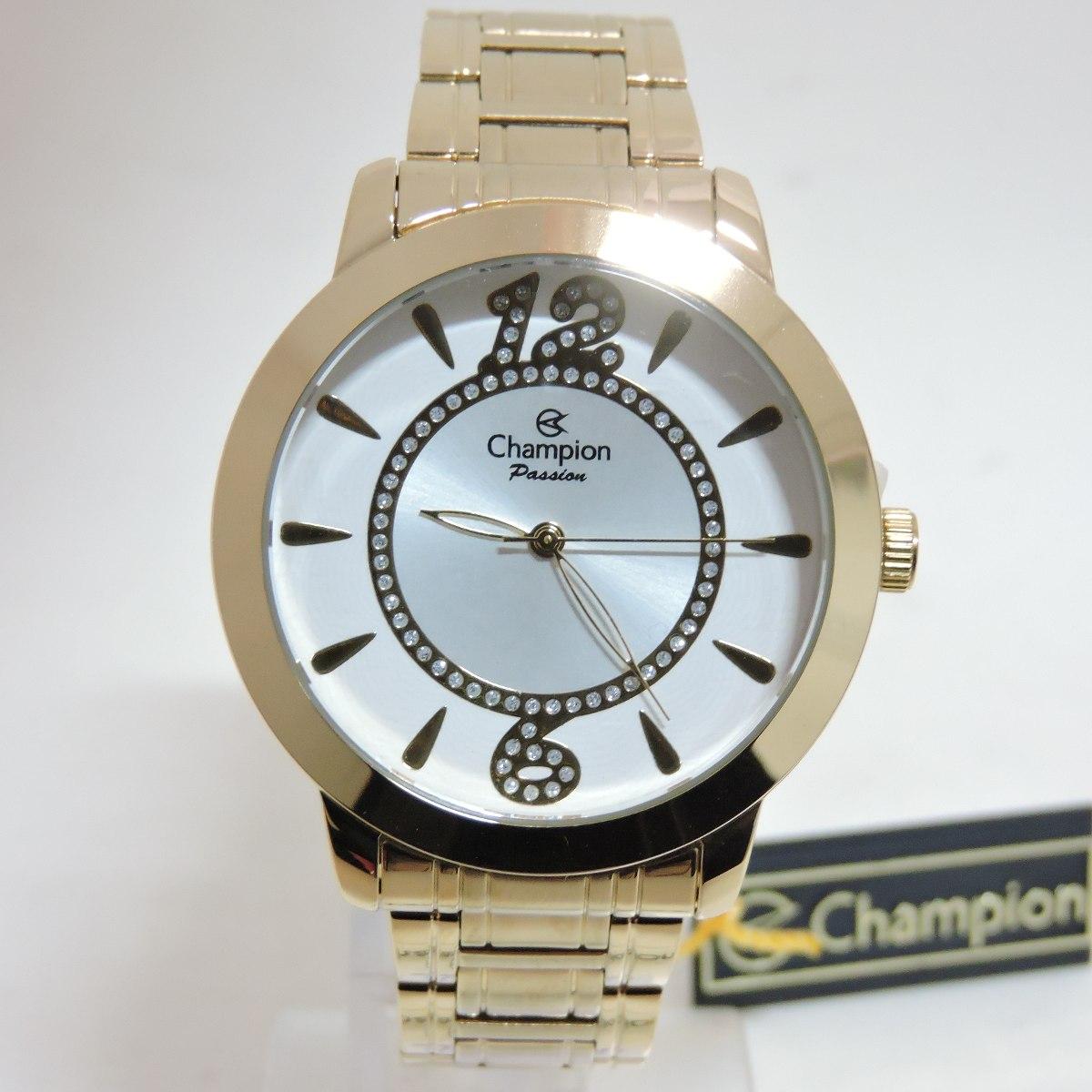 bcd70a446b relógio champion feminino passion dourado ch24259h · relógio champion  feminino. Carregando zoom.