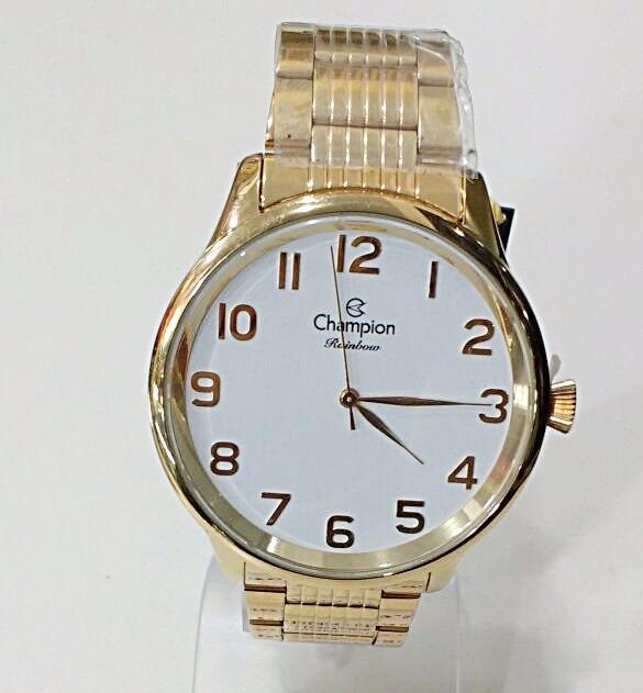 bcbfaf6c7fd Relógio Champion Feminino Rainbow Cn29918b Dourado - R  199