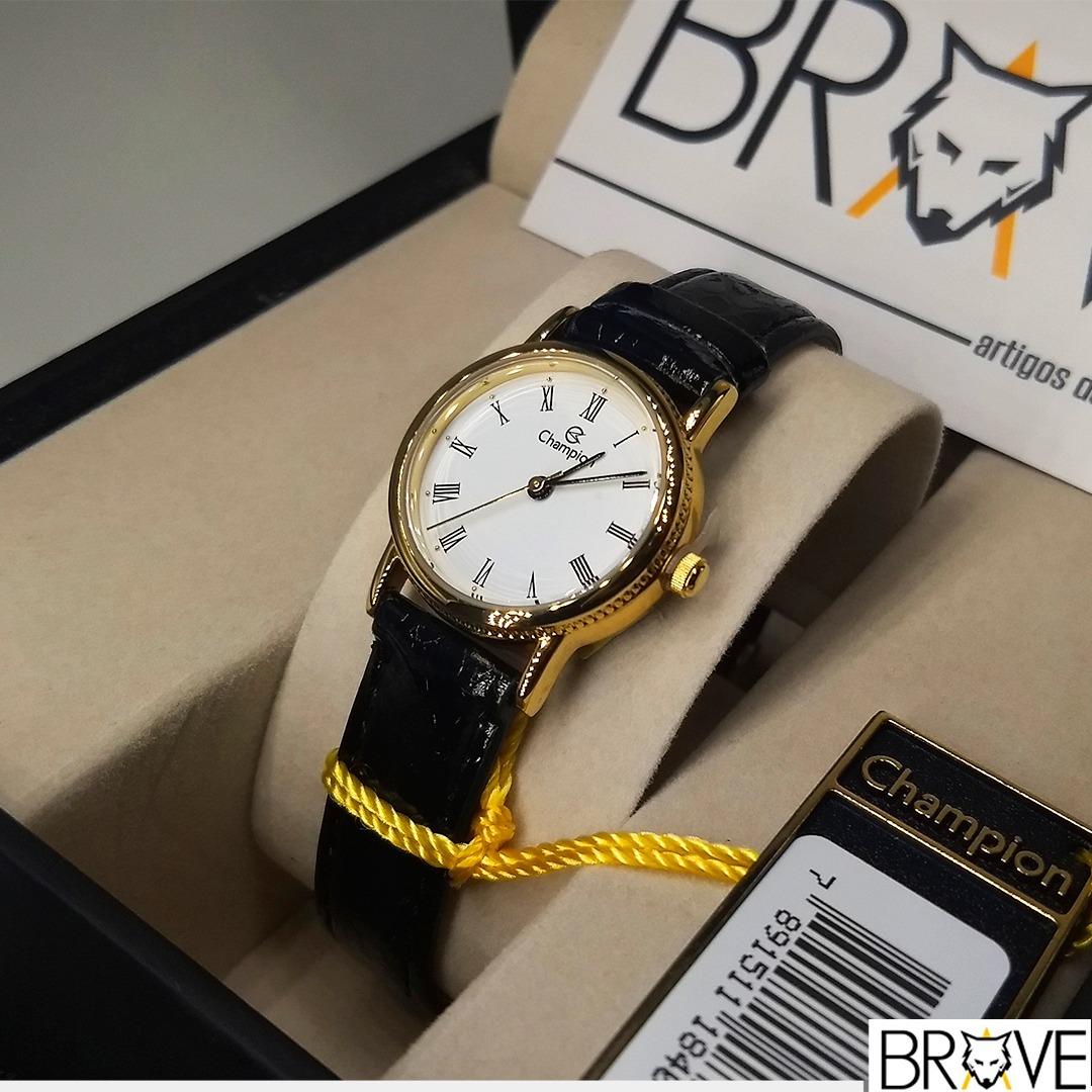 f149a961386 Relógio Champion Couro Dourado Feminino Original Garantia - R  120 ...
