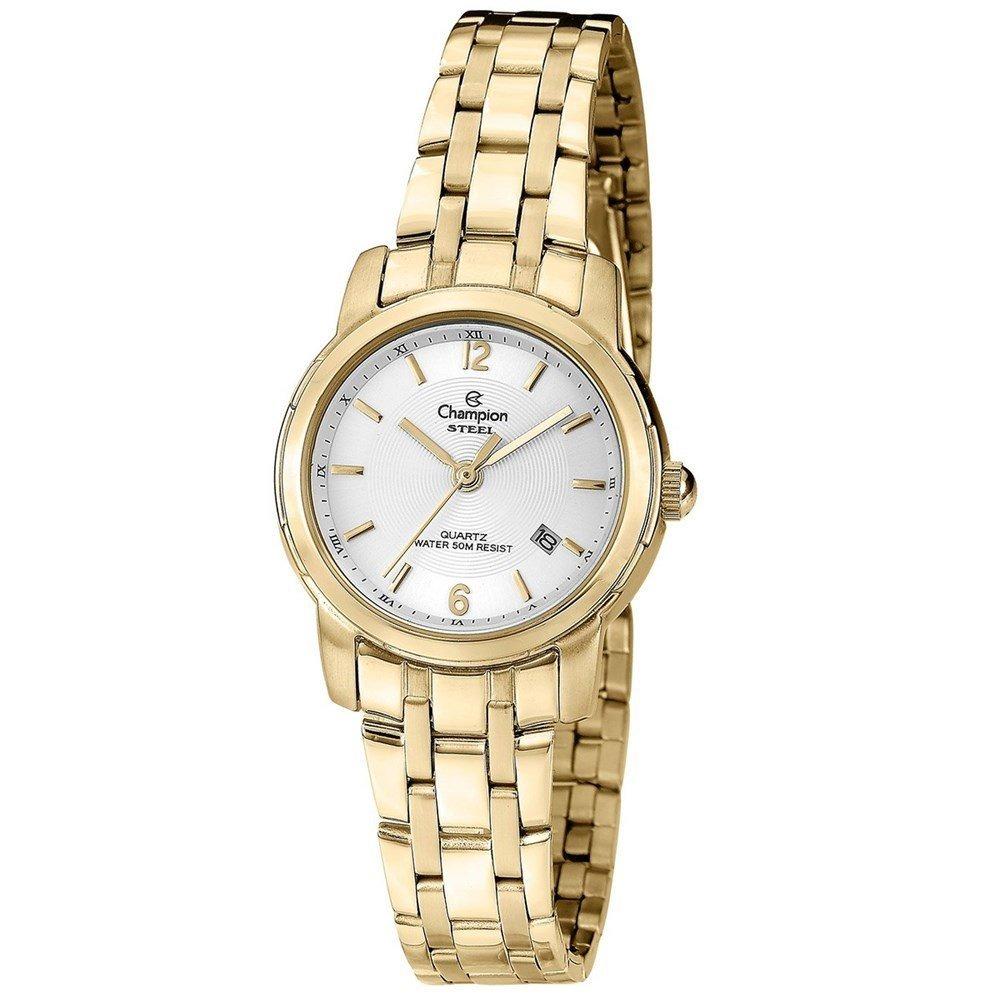 e3a827a4d73 Relógio Champion Feminino Pequeno Aço Dourado Ca28841m - R  249