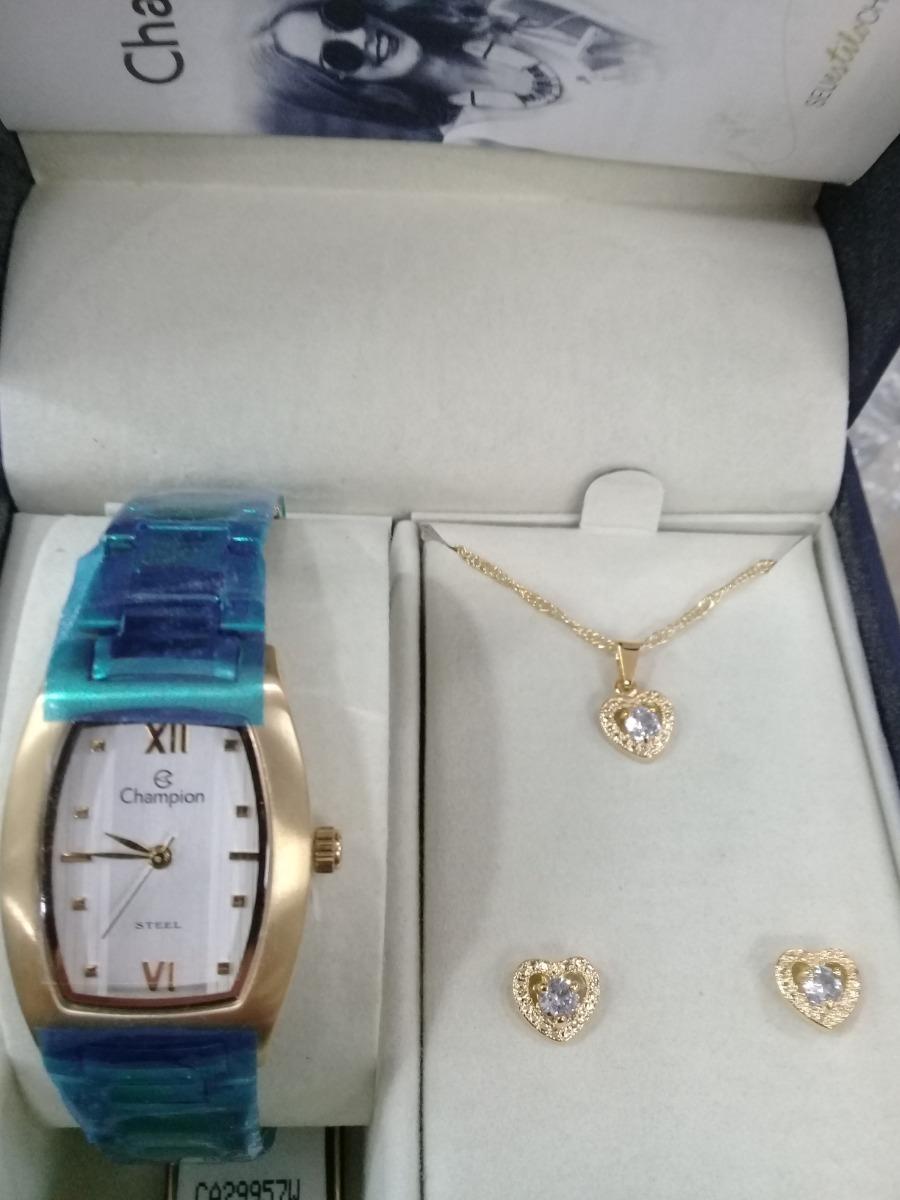 9d2339276f5 Relógio Champion Feminino Super Oferta Ca29957w + Brinde - R  209