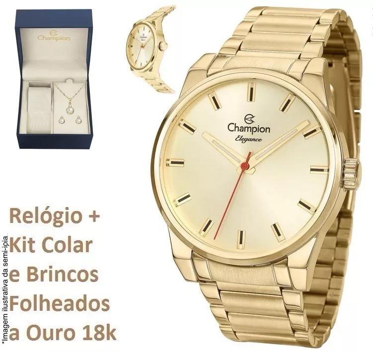 Relógio Champion Feminino Cn27590g + Kit Brinde C  N. Fiscal - R ... 2a60c2f1e8