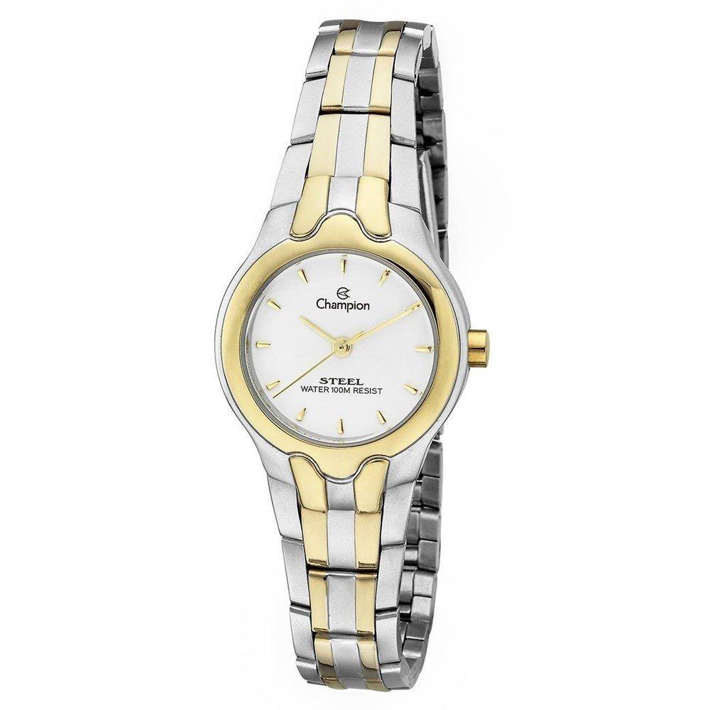 d1066afd91c Relógio Champion Feminino Pequeno Aço Prata Dourado Ca29635w - R ...