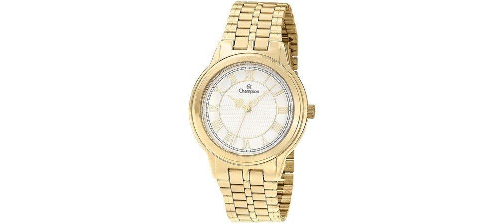 3010b31c7d1 relógio champion feminino aço dourado ch22957w. Carregando zoom.
