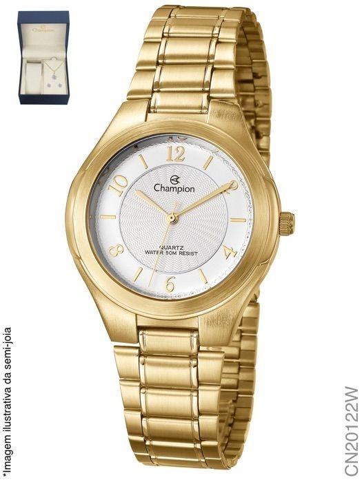 d68c5f33e8f Relógio Champion Feminino Analógico Dourado Cn20122w - R  159 ...