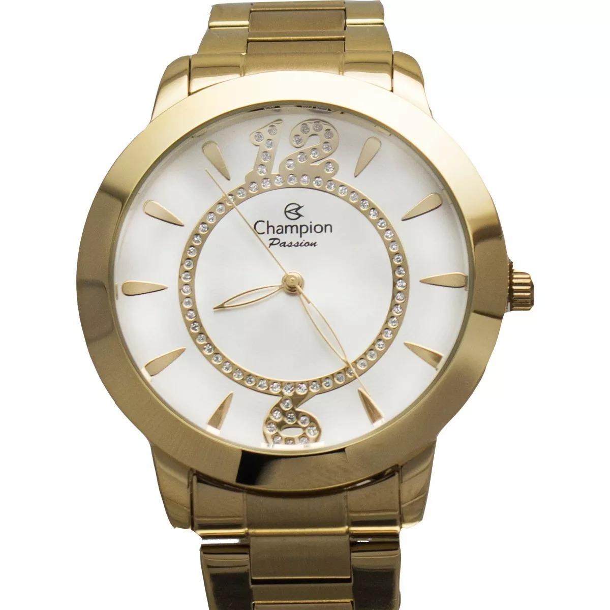 2253ac17d1a relógio champion feminino ch24259h dourado + kit brinde. Carregando zoom.
