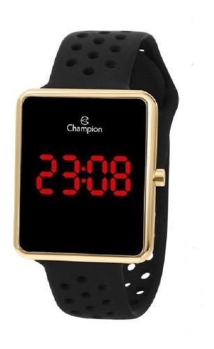 relógio champion feminino digital led ch40081v dourado