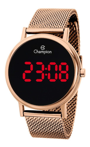 relógio champion feminino digital  rose - ch40179z