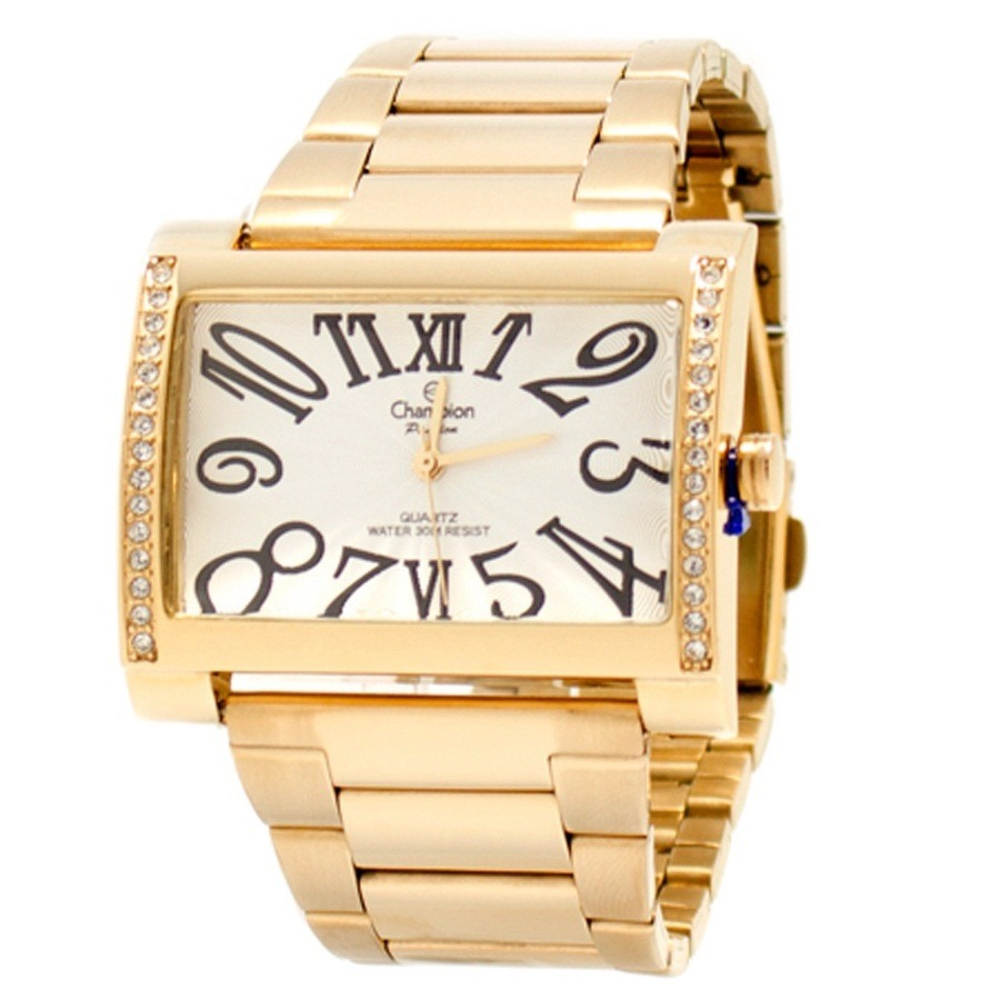 044f0277d76 Relógio Champion Feminino Dourado 30 Metros Ch24240h - R  189